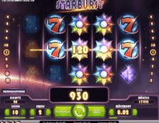 Gewinn bei Starburst mit 2 Wildsymbolen
